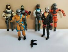 G.I. Joe 1980's Figurines & Weapon Destro Barbecue Frag Viper Slip Stream Lot 7