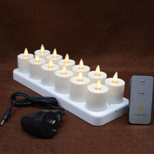 Luminara Moving Flame Flickering Flameless Led candles Rechargeable Tealights