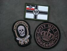 Set 3 WWI Germany Woven Patches Sew On