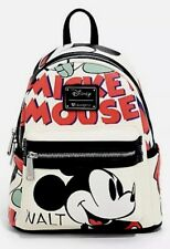 Loungefly Disney Mickey Mouse Illustration Mini Backpack Bag NWT