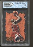 1996-97 Michael Jordan Fleer Hardwood Leader Gem Mint 10 Chicago Bulls MVP HOF