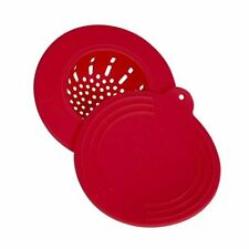 Core Kitchen Clean Solutions In-Sink Silicone Drain Strainer with Lid - Red