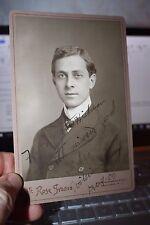 Autographed Cabinet photo actor William Lowery 1900 Ye Rose Studio Providence RI