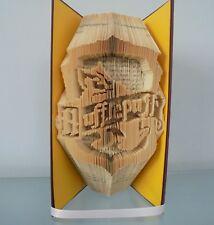 Book Folding PATTERN Combi cut and Fold, Harry Potter, Hufflepuff House Crest
