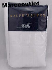 Ralph Lauren Home Bedford Sateen 800 Thread Count KING Flat Sheet White