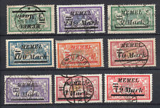 MEMEL / KLAIPEDA 1922 ,  9 SELLOS,