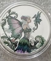 Colorized Amy Brown collection 1 oz .999 silver Proof Discovery fairy beauty