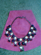 BUTLER & WILSON PURPLE AND CLEAR CRYSTAL DROP NECKLACE- NEW