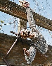 Severed Hanging Torso Props Halloween Haunted House Decor