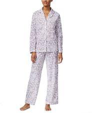 Charter Club Fleece Snowflake Printed Pajama Top Pant Set Women's Sz XXXL New