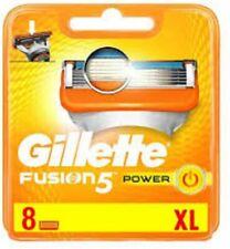 GILLETTE FUSION5 POWER BLADES X 8 (100% GENUINE UK)