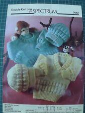 Childrens Sweaters & Hat - DK Spectrum 7082 16-24  inch