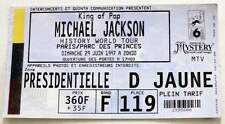 MICHAEL JACKSON Rare billet Collector ticket concert FRANCE Paris 29/06/1997