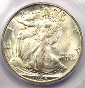 1945-D Walking Liberty Half Dollar 50C Coin - Certified ICG MS67 - $910 Value!