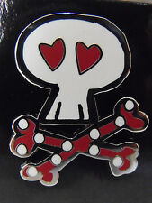 2014 Disney Booster Trading Pin Sugar Pirate Skulls & Crossbones Minnie Mouse