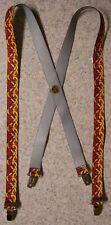 "Suspenders Children & Junior 1""x36"" FULLY Elastic International Celtic Weave NEW"