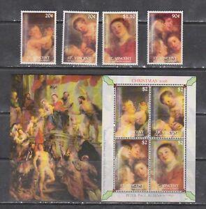 St Vincent and Grenadines 2006 art paintings christmas Rubens set+s/s MNH