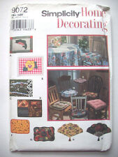 Home decor chair covers placemats  unused Pattern 9072