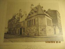 Planche Morgue, dépôt mortuaire et poste de police Bruxelles-Vue Rue Ophem 1898