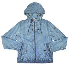 [79 94] Hugo Boss Orange Mens Blue Distressed Orvette-D Cotton Jacket Sz 38R