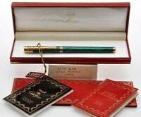 Cartier Panthere malachite green lacquer fountain pen new old stock in box