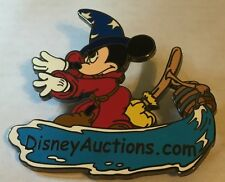Disney Auctions.com Logo DA Promo Sorcerer Mickey Fantasia LE 2500 Pin Broom