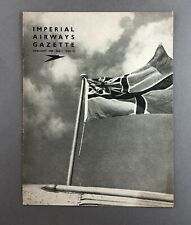 IMPERIAL AIRWAYS GAZETTE JANUARY 1939 FLYING BOATS