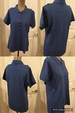 NWOT! Port Authority Ladies Golf Shirt Size Medium Blue Cotton/Polyester/Spandex