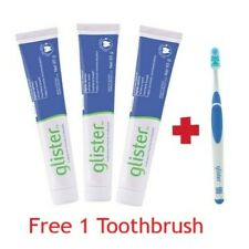 Amway Glister Toothpaste 3x 200g Tubes Oral Health Multi-Action Lot Free Ship