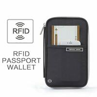 P.travel RFID Blocking Passport Holder Travel Wallet Zipper Card Organizer Safe