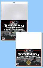 BCW: Resealable TREASURY Bags + Acid-Free Boards Combo: 100ea *Ships FREE in USA