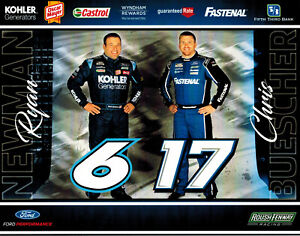 2021 CHRIS BUESCHER #17/RYAN NEWMAN #6 ROUSH FENWAY NASCAR CUP SERIES POSTCARD!!