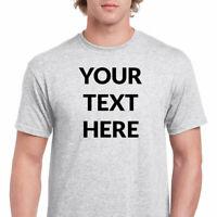 Add Your Own Text - CUSTOM PRINT TEXT SHIRT T-shirt CUSTOMIZED TEE MEN'S