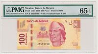 MEXICO banknote 100 Pesos 2008 PMG MS 65 EPQ Gem Uncirculated grade