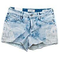 Jessica Simpson Women's Cherish Short Sz 26,27,29,31 Acid Wash Cut Off Lace NWT