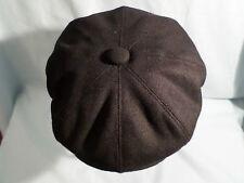 MENS BLACK RETRO VINTAGE STYLE NEWSBOY 8-PANEL HAT TWENTYS THIRTYS BAKER BOY CAP