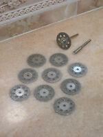 10 x 30mm 9H Schmuck Diamant Glas Metall Trennscheibe Schleifscheibe für Dremel