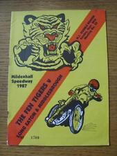 20/09/1987 Speedway Programme: Mildenhall Fen Tigers v Middlesbrough Tigers & Lo