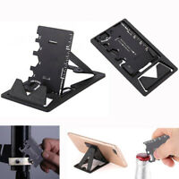 Multi-function Metal Screwdriver Opener EDC Tool Card Wrench Fold Phone Bracket-