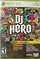 DJ Hero (Xbox 360, 2009, Game Only)