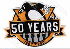 PITTSBURGH PENGUINS PATCH REVISED 5X TROPHY 50 YEARS 2016 2017 STANLEY CUP CHAMP