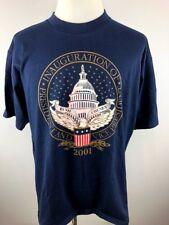 Bush Cheney 2001 Inaguration T Shirt Made in USA - XL