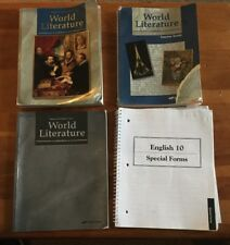 Abeka World Literature set lot Grade 10 English Beka 3rd Edition Parent Guide