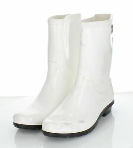 05-09 NEW $70 Women's Sz 9 M Ugg Sienna Rubber Rain Boot In White