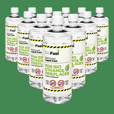Bio Ethanol Fuel 12L, FREE NEXT DAY DELIVERY, Premium Grade Quality, Clean Burn