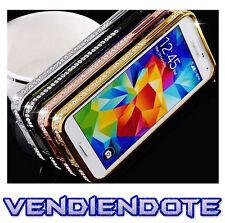 Bumper Coque avec Diamants Verre Pour Samsung Galaxy S5 i9600 Brillant