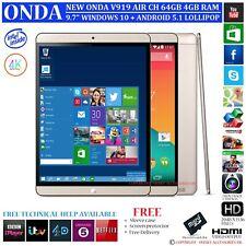 NEW ONDA V919 AIR CH 4GB RAM 64GB INTEL DUAL OS WINDOWS 10 ANDROID 5.1 TABLET PC