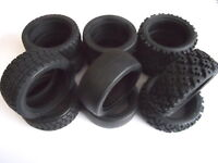 Choice Of New Genuine Tamiya Tyres/Tires (4): Treaded Radial, Slick, Rally Block