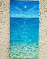 "Art 10""/20"" ocean original oil painting by Laura Livetskiy landscape, seascape"