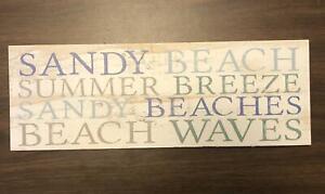 Sandy Beach Wood Sign